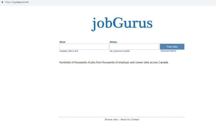 скриншот сайта Jobgurus