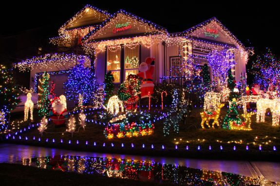 Рождественское убранство дома в Америке