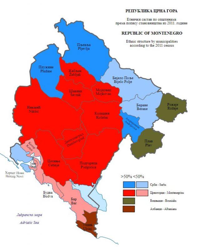 Этнический состав населения Черногории