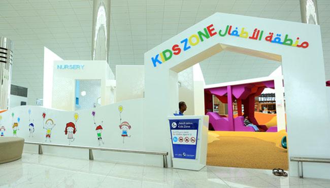 семейная зона отдыха в аэропорту Дубая