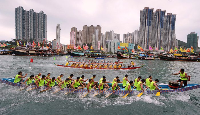лодки-драконы, фестиваль, китай