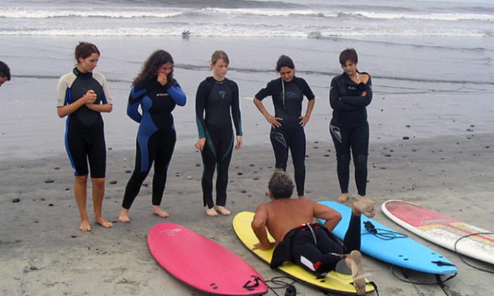 Лагерь серферов в Фуллертон (США)