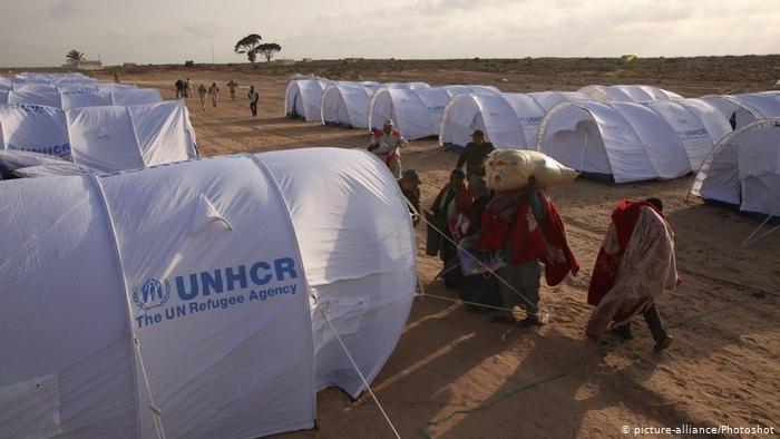 Лагерь для беженцев в Тунисе