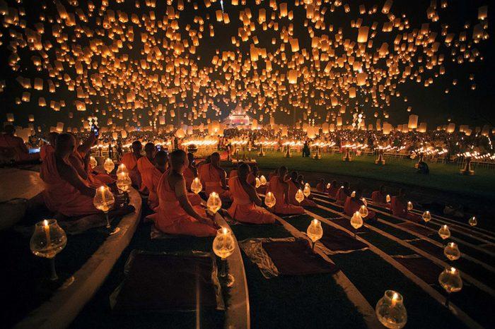 фестиваль бумажных фонариков Yee Peng