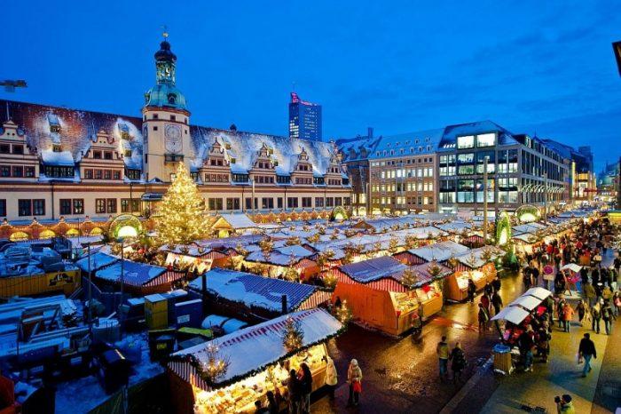 Рождественский рынок в Лейпциге