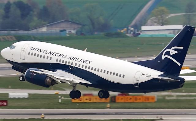 Самолет Montenegro Airlines