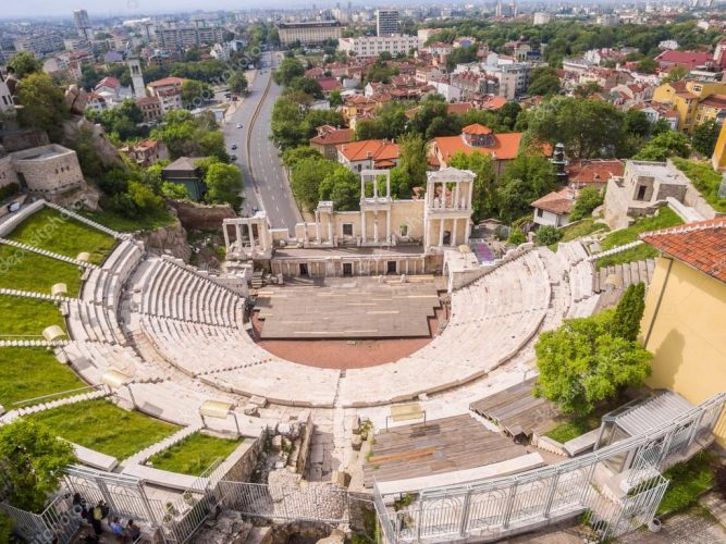 Римский амфитеатр в Пловдиве, Болгария