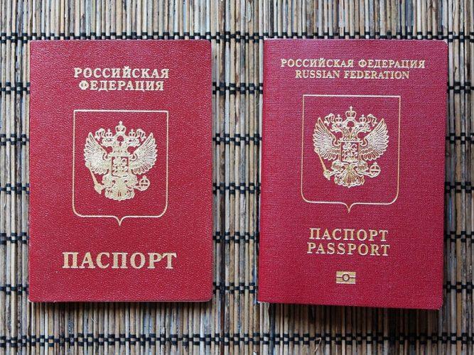 Справа - биометрический, слева - классический загранпаспорт
