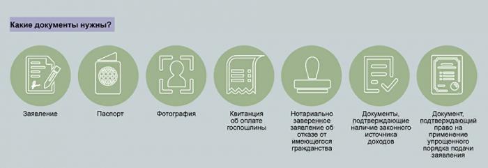 Какие документы нужны для оформления гражданства РФ?