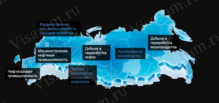 Промышленность РФ по областям