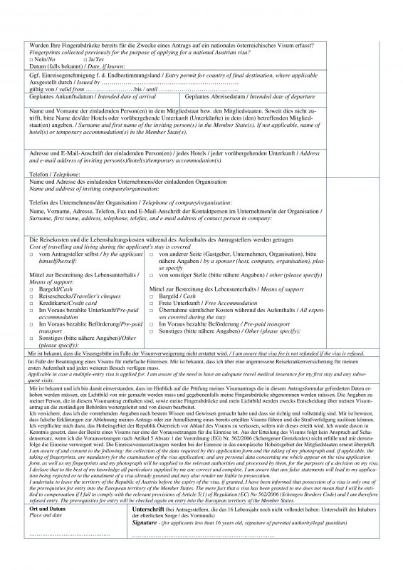 Анкета на The Jobseeker Visa