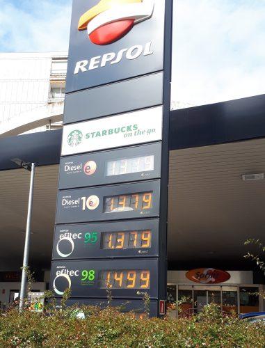 Repsol - цены на бензин