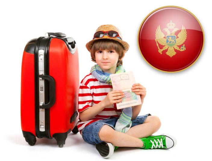 Правила выезда ребёнка в Черногорию