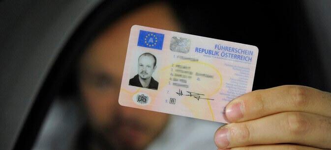 Австрийские водительские права