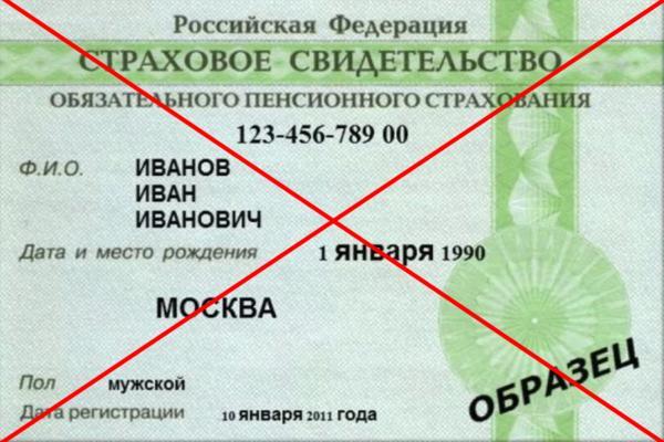 Отмена карточки СНИЛС в России
