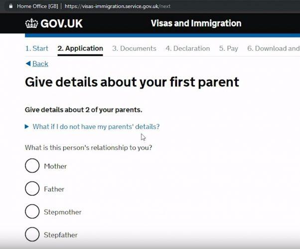 детально прописать информацию по родителям