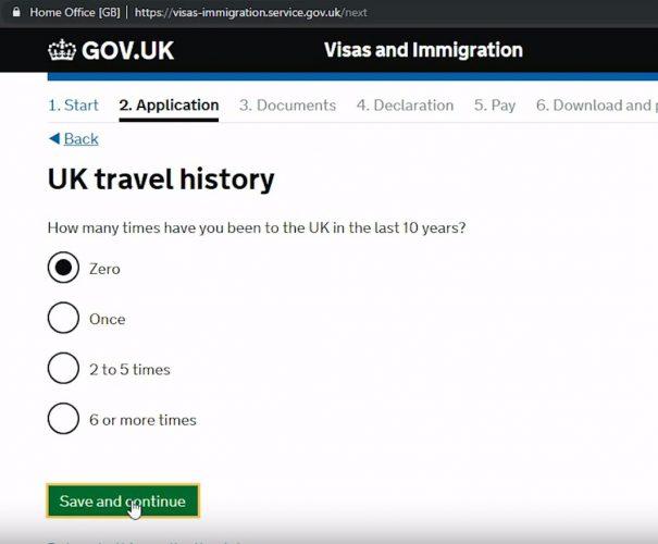 количество визитов в Великобританию