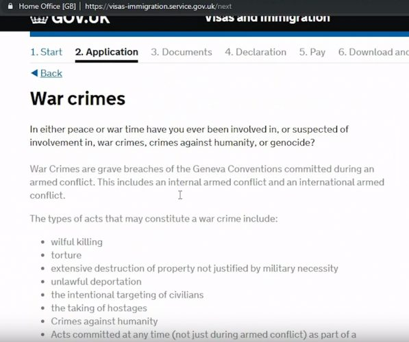 блок военных преступлений