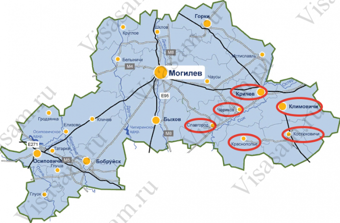 Районы, включенные в список, в которых необходимо проживать лицам, претендующим на льготное кредитование