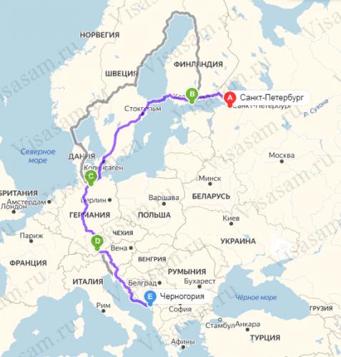 В Черногорию через Финляндию