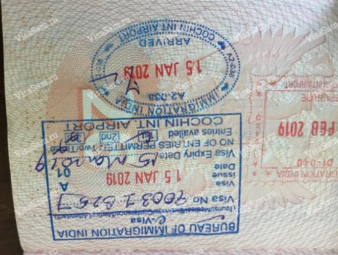 Электронная виза в Индию для Россиян в 2020 году