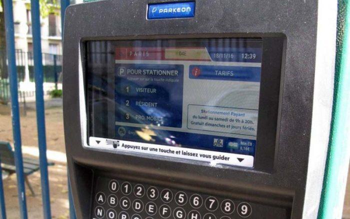 Парковочный автомат во Франции