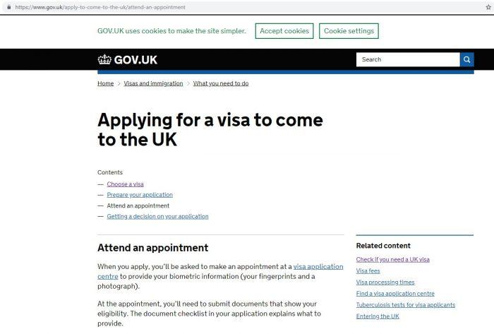 Скриншот сайта gov.uk