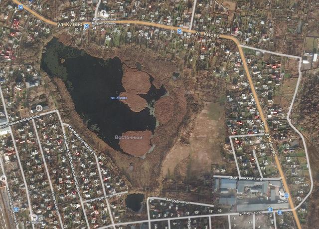 озеро Киово спутниковый снимок