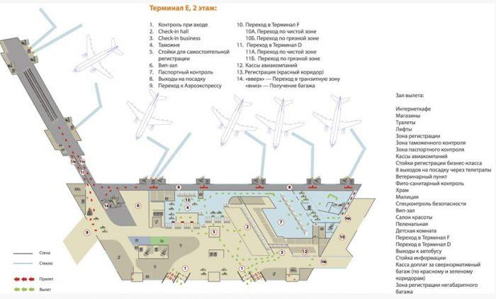 Пересадка в Шереметьево в терминале D, В, Е, F на международные и внутренние рейсы : как успеть за 1-2 часа