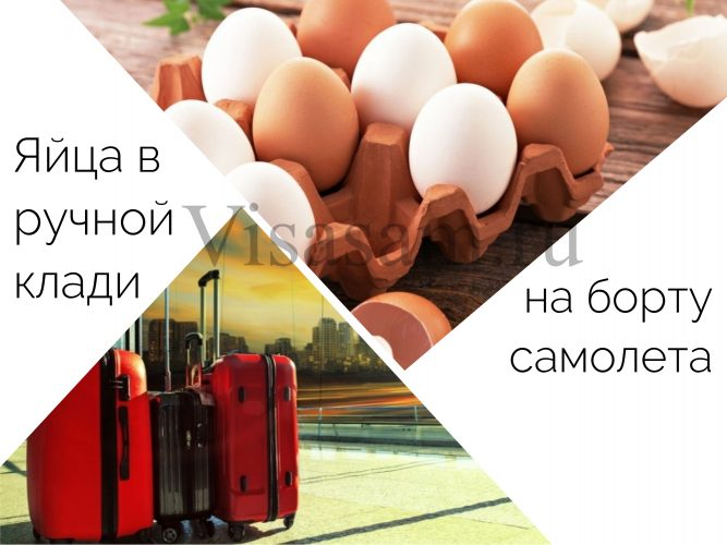Можно ли перевозить яйца в ручной клади на борту самолета