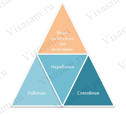 Основные типы виз