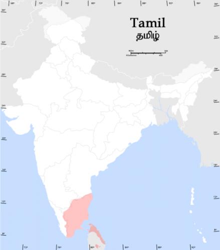 распространение тамильского языка