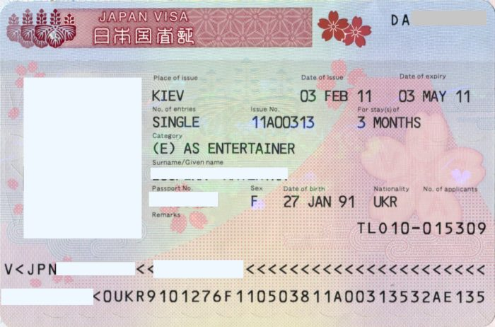 Многократная виза в Японию