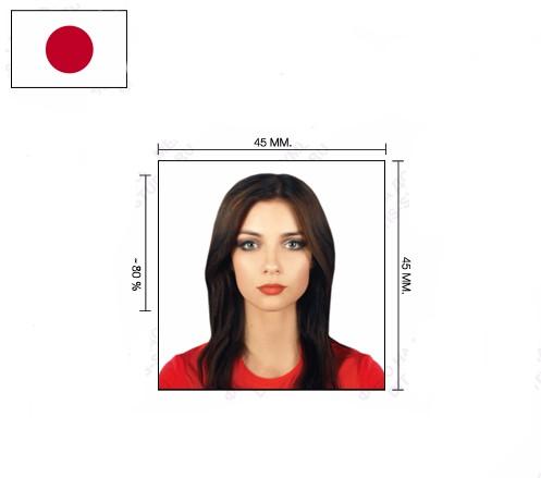 Корректное фото на визу в Японию
