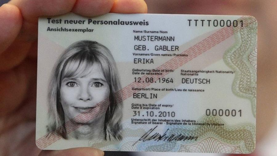 удостоверение личности в Германии
