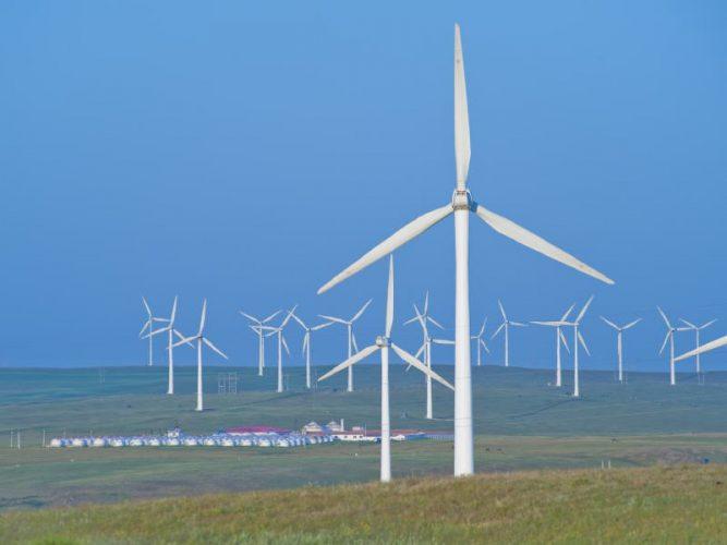 ветрогенераторы в работе