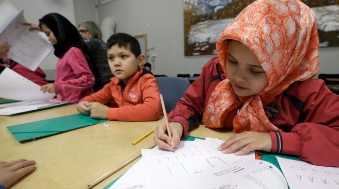 Дети в лагере беженцев