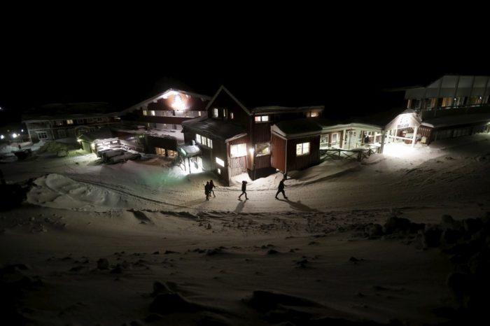 лагерь беженцев города Риксгрансен