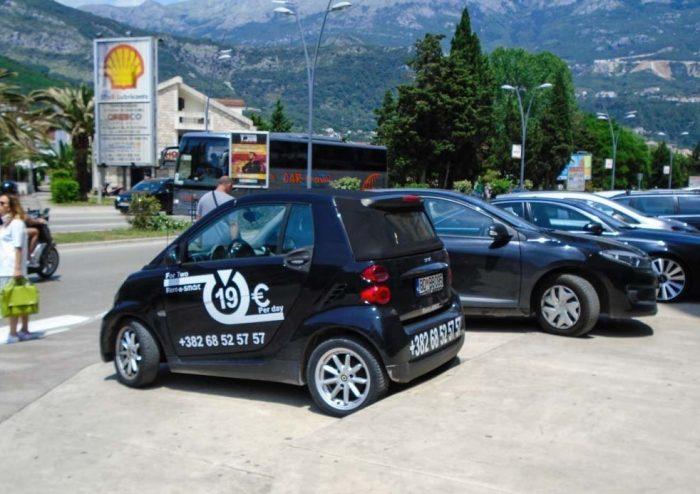 Реклама автопроката в Черногории