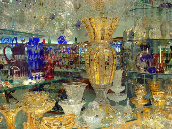 изделия из богемского стекла из чехии