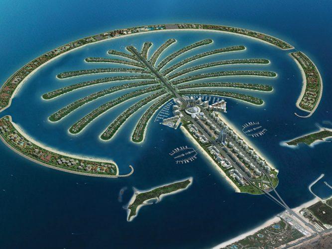 район Palm Jumeirah в Дубае