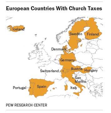 религиозные налоги в Европе