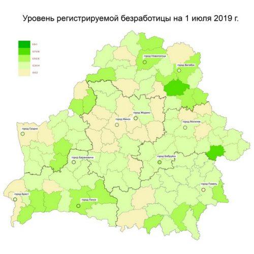 Уровень безработицы в Беларуси