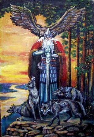 Водан (Один) - верховный бог.