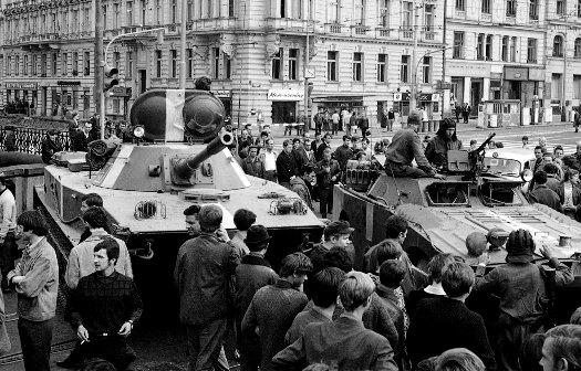 Советские танки в Чехословакии