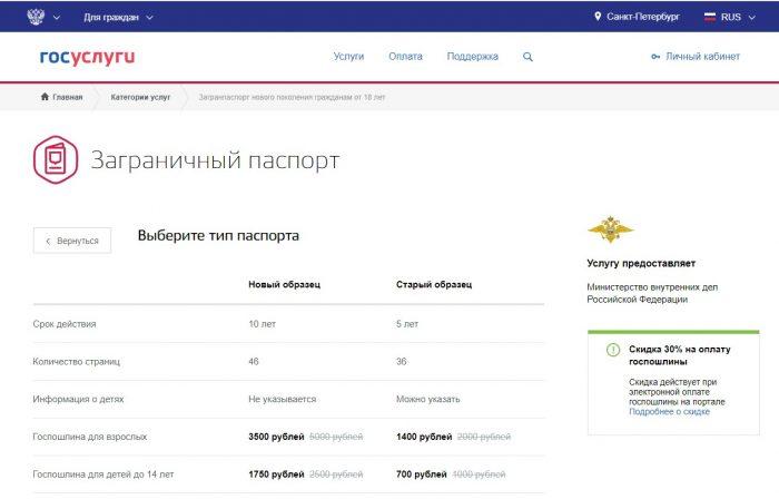 Скриншот сайта gosuslugi