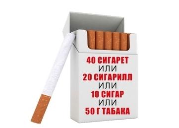 Нормы ввоза сигарет