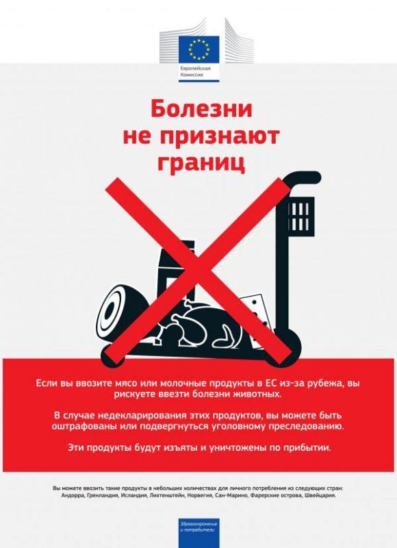 Запрет ввоза продуктов в ЕС