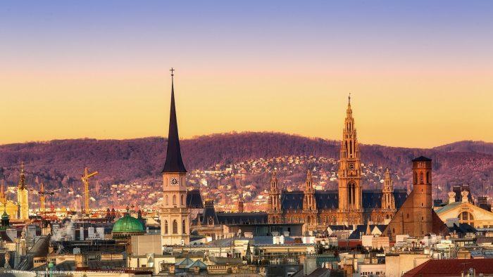 Вид на Вену с птичьего полета
