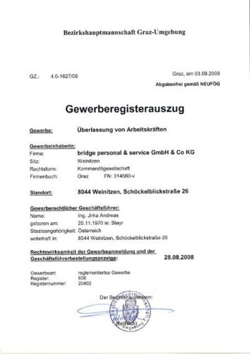 Регистрация в коммерческом регистре Австрии